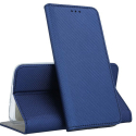 BOOKX-A11BLEU - Etui Galaxy A11 rabat latéral fonction stand coloris bleu foncé