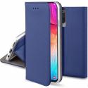 BOOKX-A32BLEU - Etui Galaxy A32 rabat latéral fonction stand coloris bleu