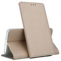 BOOKX-IP12MINIGOLD - Etui iPhone 12 Mini rabat latéral fonction stand coloris gold