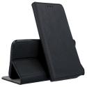 BOOKX-IP12MININOIR - Etui iPhone 12 Mini rabat latéral fonction stand coloris noir
