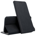 BOOKX-MI10LITENOIR - Etui Xiaomi Mi 10-LITE rabat latéral fonction stand coloris noir