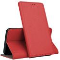 BOOKX-P40LITEEROUGE - Etui Huawei P40-Lite E rabat latéral fonction stand coloris rouge