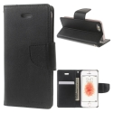 BRAVO-IP6PLUSNOIR - Etui iPhone 6/6s PLUS Mercury Bravo logements carte fonction stand coloris noir