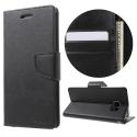 BRAVO-NOTE4NOIR - Etui Galaxy Note-4 Mercury Bravo logements carte fonction stand coloris noir
