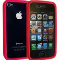 BUMPER-IP4-ROU - Housse Bumper Rouge iPhone 4 TPU Gel