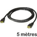 CABLE_HDMI_500 - Câble HDMI mâle-mâle de 5 mères coloris noir