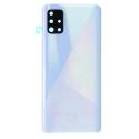CACHE-A51BLANC - Face arrière (dos) blanche pour Galaxy A51