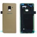 CACHE-A82018GOLD - Dos Samsung Galaxy A8 2018 en verre coloris gold