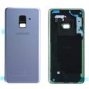 CACHE-A82018ORCHID - Dos Samsung Galaxy A8 2018 en verre coloris orchidée