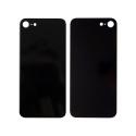 CACHE-IPSENOIR - Vitre arrière (dos) iPhone SE coloris noir en verre