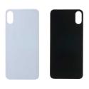 CACHE-IPXSBLANC - Vitre arrière (dos) iPhone Xs coloris blanc en verre