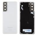 CACHE-S21BLANC - Cache batterie vitre arrière origine Samsung Galaxy S21(5G) coloris Phantom White