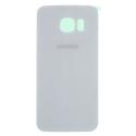 CACHE-S6BLANC - Face arrière vitre du dos blanc Samsung Galaxy S6 SM-G920
