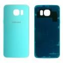 CACHE-S6TURQUOISE - Face arrière vitre du dos bleu topaze Samsung Galaxy S6 SM-G920
