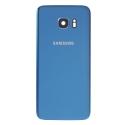 CACHE-S7EDGEBLEU - Face arrière vitre du dos Samsung Galaxy S7-Edge SM-G935 bleu