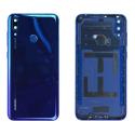 CACHE-Y72019BLEU - Cache batterie (dos) pour Huawei Y7 (2019) bleu avec lentille photo et capteur d empreintes