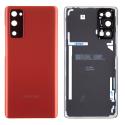 CACHEOR-G780ROUGE - Face arrière vitre du dos origine Samsung Galaxy S20FE rouge