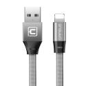 CAFELE-LB2-1-13 - Câble renforcé plat 1M tissé nylon prise Lightning pour iPhone et iPad