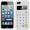 HCALCUL-IP5-BLA - housse silicone aspect calculatrice pour iPhone 5