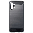 CARBOBRUSH-A32 - Coque Galaxy-A32 antichoc coloris noir aspect carbone