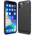 CARBOBRUSH-IP11PRO - Coque iPhone 11 PRO antichoc coloris noir aspect carbone