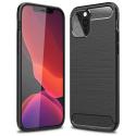 CARBOBRUSH-IP12MINI - Coque iPhone 12 Mini antichoc coloris noir aspect carbone