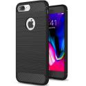 CARBOBRUSH-IP7LUS - Coque iPhone 7+/8+ antichoc coloris noir aspect carbone