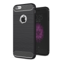 CARBOBRUSH-IPHONE5S - Coque iPhone SE antichoc coloris noir aspect carbone