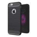 CARBOBRUSH-IPHONE6S - Coque iPhone 6s antichoc coloris noir aspect carbone