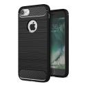 CARBOBRUSH-IPHONE7 - Coque iPhone 7 antichoc coloris noir aspect carbone