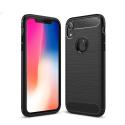 CARBOBRUSH-IPHONEXR - Coque iPhone XR antichoc coloris noir aspect carbone