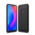 CARBOBRUSH-MIA2LITE - Coque Xiaomi Mi-A2 Lite antichoc coloris noir aspect carbone