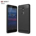 CARBOBRUSH-NOKIA7 - Coque Nokia-7 flexible antichoc coloris noir aspect carbone