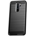 CARBOBRUSH-NOTE8PRO - Coque Xiaomi Redmi Note-8 PRO antichoc coloris noir aspect carbone