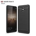 CARBOBRUSH-P10 - Coque Huawei P10 antichoc coloris noir aspect carbone et métal brossé