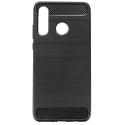 CARBOBRUSH-P40LITEE - Coque Huawei P40 LITE-E antichoc coloris noir aspect carbone et métal brossé