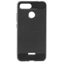 CARBOBRUSH-REDMI6 - Coque Xiaomi Redmi-6 antichoc coloris noir aspect carbone