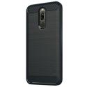 CARBOBRUSH-REDMI8 - Coque Xiaomi Redmi-8 antichoc coloris noir aspect carbone
