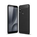 CARBOBRUSH-REDMINOTE5 - Coque Xiaomi Redmi-Note 5 antichoc coloris noir aspect carbone