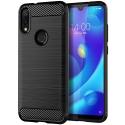 CARBOBRUSH-REDMINOTE7 - Coque Xiaomi Redmi-Note 7 antichoc coloris noir aspect carbone