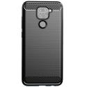 CARBOBRUSH-REDMINOTE9 - Coque Xiaomi Redmi-Note 9 antichoc coloris noir aspect carbone