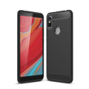 CARBOBRUSH-REDMIS2 - Coque Xiaomi Redmi-S2 antichoc coloris noir aspect carbone