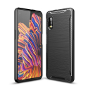 CARBOBRUSH-XCOVERPRO - Coque Galaxy-XCOVER-PRO antichoc coloris noir aspect carbone
