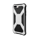 CARBONX-IP7PLUSBLANC - Coque iPhone 7/8 Plus antichoc coloris blanc aspect carbone