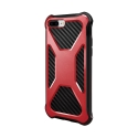 CARBONX-IP7PLUSROUGE - Coque iPhone 7/8 Plus antichoc coloris rouge aspect carbone