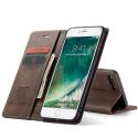 CASEME013-IP7PLUSMARRON - CaseMe étui latéral iPhone 6+/7+/8+ aspect nubuck marron