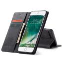CASEME013-IP7PLUSNOIR - CaseMe étui latéral iPhone 6+/7+/8+ aspect nubuck noir