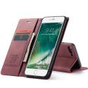 CASEME013-IP7PLUSROUGE - CaseMe étui latéral iPhone 6+/7+/8+ aspect nubuck bordeaux