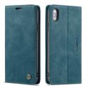 CASEME013-IPXBLEU - CaseMe étui latéral iPhone X/Xs aspect nubuck bleu