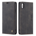 CASEME013-IPXNOIR - CaseMe étui latéral iPhone X/Xs aspect nubuck noir